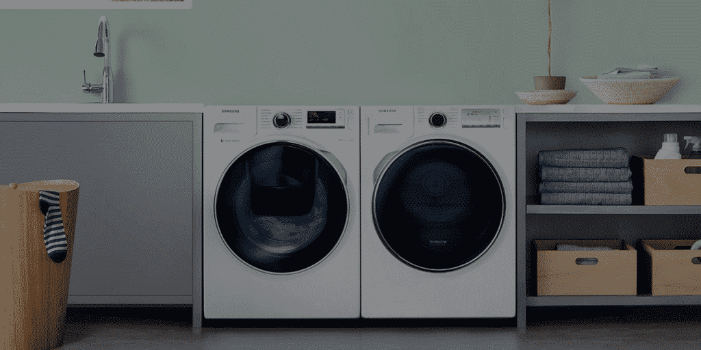 samsung white goods in washing room